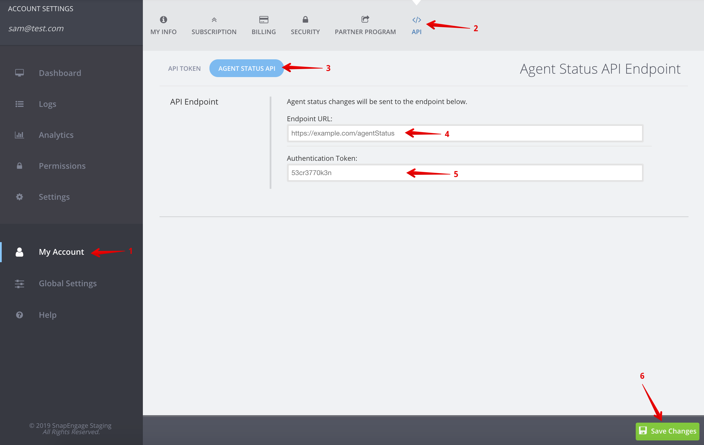 Agent Status API Authentication